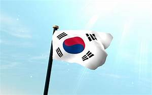 South Korea Flag 3D Wallpaper
