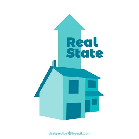 Real Estate Blue Background Vector  Free Download