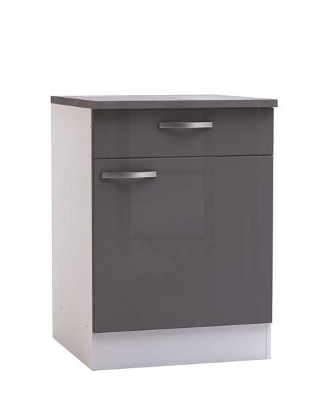 but meuble de cuisine bas meuble bas de cuisine contemporain 1 porte 1 tiroir blanc