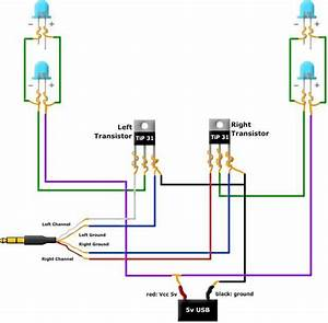 Music Led Light Box Modified Circuit Diagram