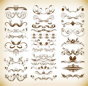 designer vintage vintage ornaments floral elements vector set free vector graphics all free web resources for