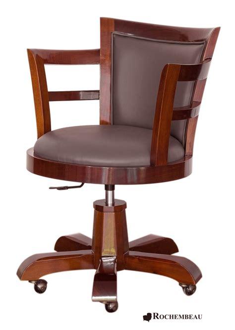 fauteuil de bureau cuir et bois fauteuil bureau bois