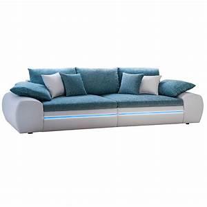 Big Sofa Türkis : big sofa dubai megasofa wohnlandschaft wei t rkis inkl rgb led ebay ~ Eleganceandgraceweddings.com Haus und Dekorationen