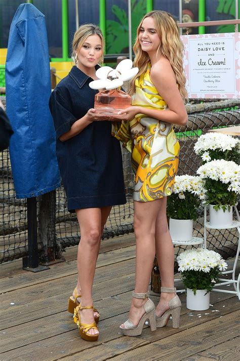 Bailee Madison and Olivia Holt at the Daisy Love Fragrance ...