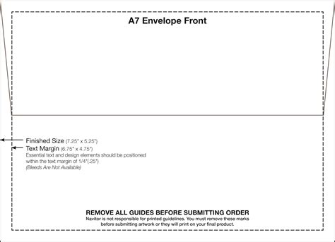 a 7 envelope a7 envelope template 5 25 x 7 25 fedex print manager
