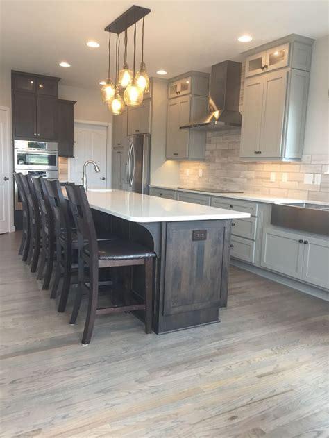 image result  greige cabinets  white wash floors
