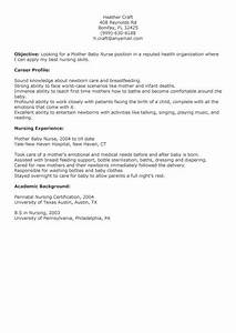 Resume Builder No Work Experience Mother Baby Nurse Resume Baby Pinterest Babies