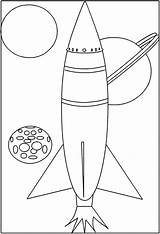 Coloring Coloriage Space Missile Fusee Colorare Dessin Espace Disegni Shuttle Colorear Dibujos Colorat Planse Spatial Vaisseau Rocket Cohetes Bambini Disegno sketch template