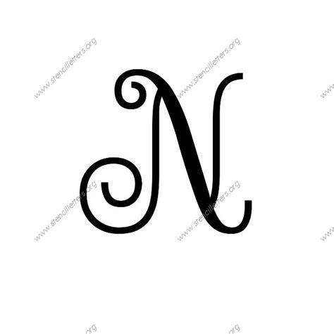 Exquisite Fine Cursive Uppercase & Lowercase Letter Stencils Az 14 To 12 Inch Sizes Stencil