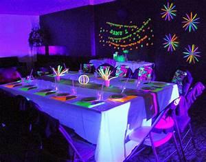 THREElittleBIRDS' : Neon/Glow in the Dark Birthday Party  Glow