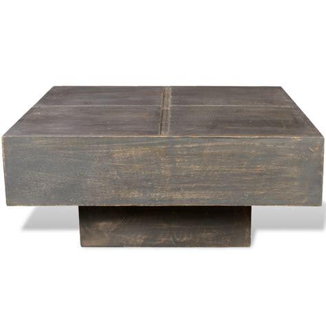 vidaXL.se   Fyrkantigt soffbord av mangoträ Antik stil Svart