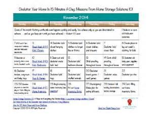 Declutter Checklist Free Printable Calendar