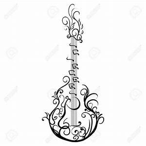 Les Paul Guitar Drawing At Getdrawings Com