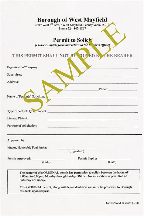 business license samples expense spreadshee business