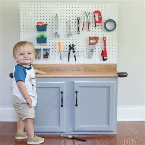 diy kids tool bench step  step tutorial diy playbook