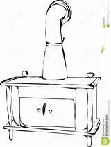 Stove Wood Burning Template Outlines Coloring Pages sketch template