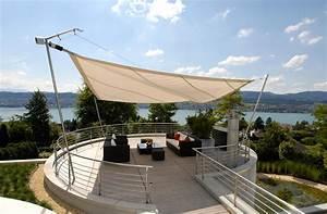 Sonnensegel in edlem design fur terrasse und garten for Französischer balkon mit garten segeltuch