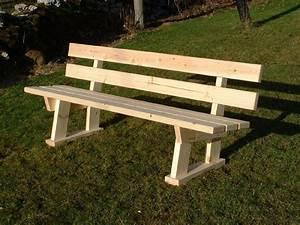 fabriquer un banc en bois avec dossier mzaolcom With fabriquer un banc de jardin en bois