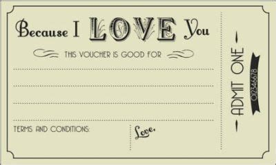 printable love vouchers  printable gift