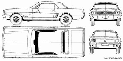 Mustang Ford Blueprints 65 Cars Coloring Blueprint