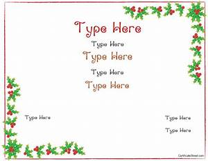 Blank Certificates - Christmas Certificate Template ...