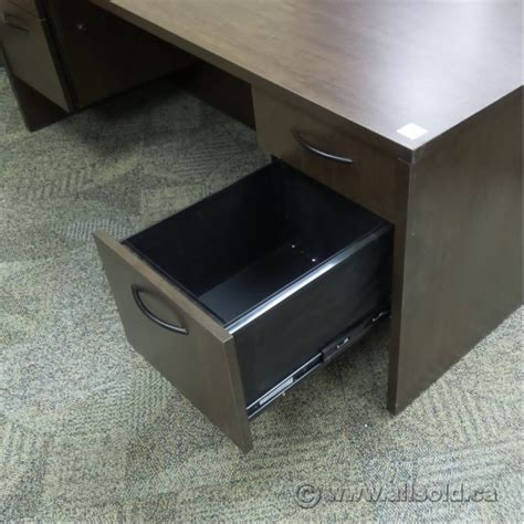espresso desk with drawers espresso bow front double ped desk 4 drawers 72 x 42 in