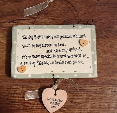shabby chic personalised wooden plaque wooden shabby plaque personalised chic bridesmaid sister in law gift ebay