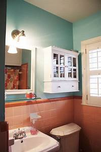 best 25 pink bathroom vintage ideas on pinterest pink With kitchen colors with white cabinets with pink and gray nursery wall art