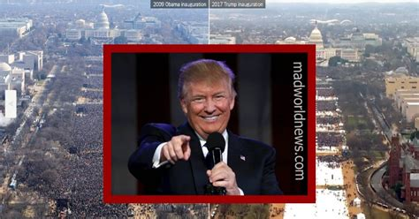 real images  trumps inaguration crowd truth  medias photo