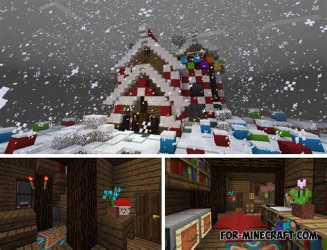 christmas house  mcpe bedrock
