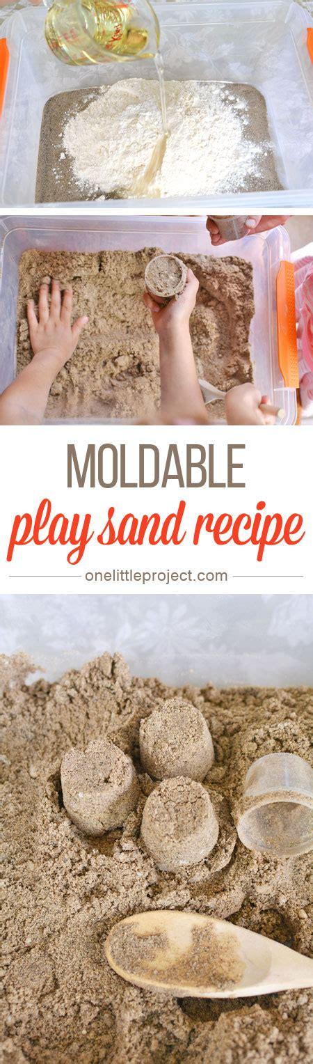 diy kinetic sand moldable play sand recipe