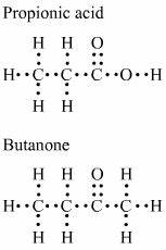 give the electron dot structure for propanoic acid and ...