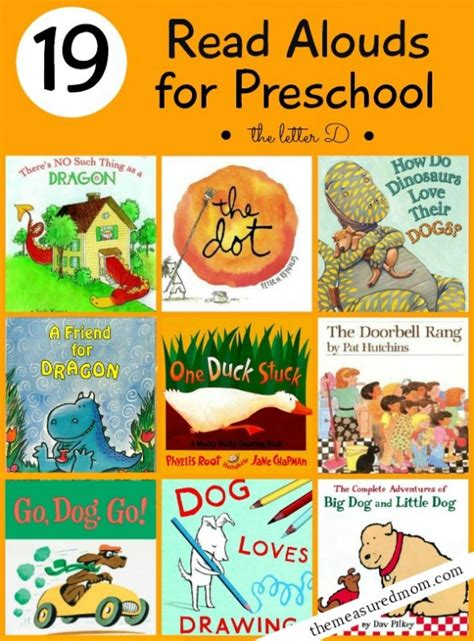 19 books for preschoolers a letter d book list the 199 | read alouds for preschool for letter D 590x798