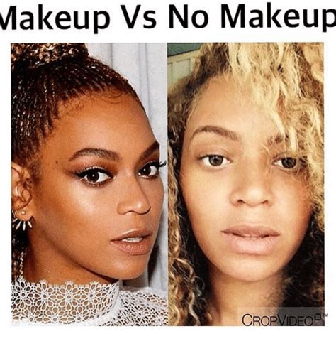No Makeup Meme - makeup vs no makeup cro makeup meme on sizzle