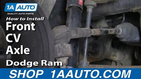 auto repair replace change front cv axle dodge ram
