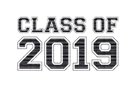 Class Of 2019 Svg Printable Clipart Graduation Cut File