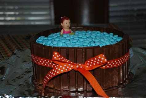 candy cake swimming pool event pinterest