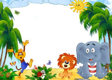Animal Frame Wallpaper - children zoo photoshop background png 24703 free icons
