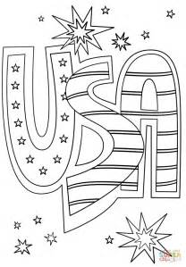 usa doodle coloring page  printable coloring pages