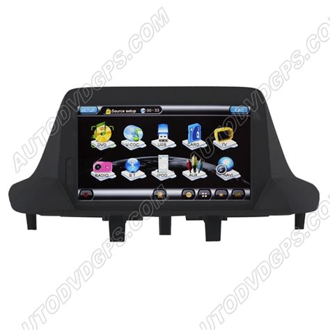 ql ren759 car dvd gps navigation player with 7 inch hd touchscreen for 2009 2011 renault megane