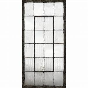 Industrial Texture Charcoal Warehouse Windows Mural