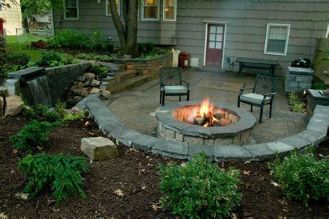 outdoor patio with firepit traditional patio kansas