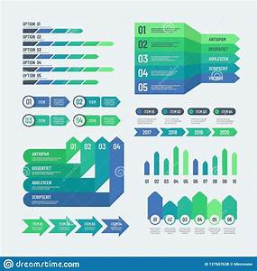 Infographic Elements  Modern Graphs Investment Charts Info