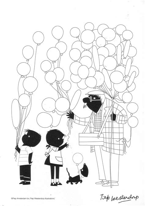 Jip En Janneke Doen De Was Kleurplaat by Jip En Janneke Ballonnen Kleurplaat Ballonnen