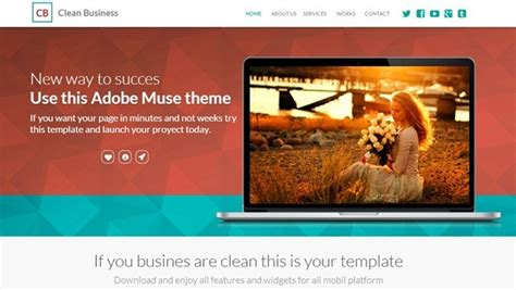 55 Best Premium And Free Adobe Muse Templates From 2013 55 Best Premium And Free Adobe Muse Templates From 2013