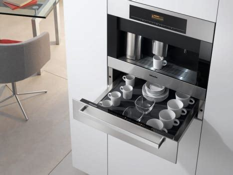 It's majestic and impressive features such as the easy click milk system and cup sensor the miele cm6310 coffee maker comes with a sleek design and an ingenious lcd display that boasts of its high technology. Miele ESW408214SS 24 Inch Plate and Cup Warming Drawer ...