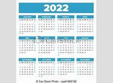 Simple, calendario, 2022, año Semana, simple, comienzos