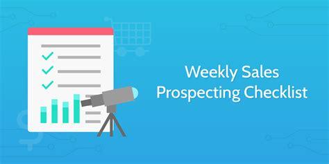 weekly sales prospecting checklist process street