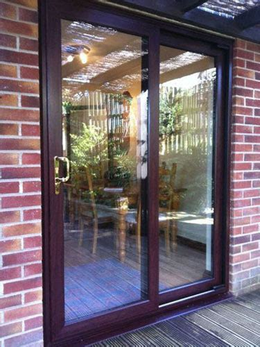 rosewood sliding patio doors  pane upvc