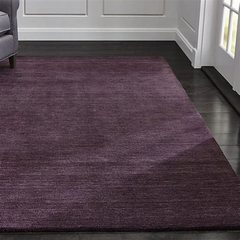 baxter plum purple wool rug crate  barrel